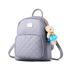 Women Leather Backpack Purse Satchel School Bags Casual Travel Daypacks for Girls Mini Backpack