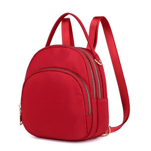 Women Mini Backpack Purse Nylon Waterproof Small Backpack for Girls Multifunctional Cross Body Bag  Fashion Bag Multi-layer