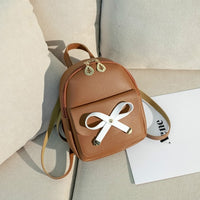 Bow Tie Mini Backpack for Girls 2019 Summer New Crossbody Ladies Zero Purse  Cute Backpack Women  Pu Backpack