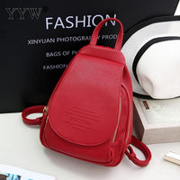 Solid PU Leather Small Backpack Female School Backpacks for Children a case for Phone & Purse High Quality Lady's Travel Bags