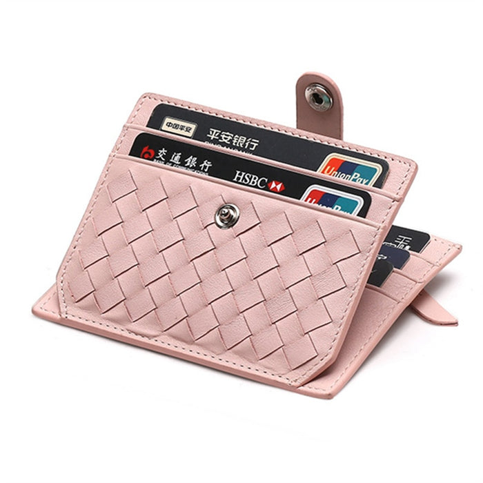 New Fashion Genuine Leather Card Holder Capacity Zipper Female Fashion Men Women ID Card Wallets With Coin Purse Slim and Mini