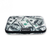New Aluminum Print Card Case Pocket Business ID Credit Card Wallet Holder Waterproof Case Box