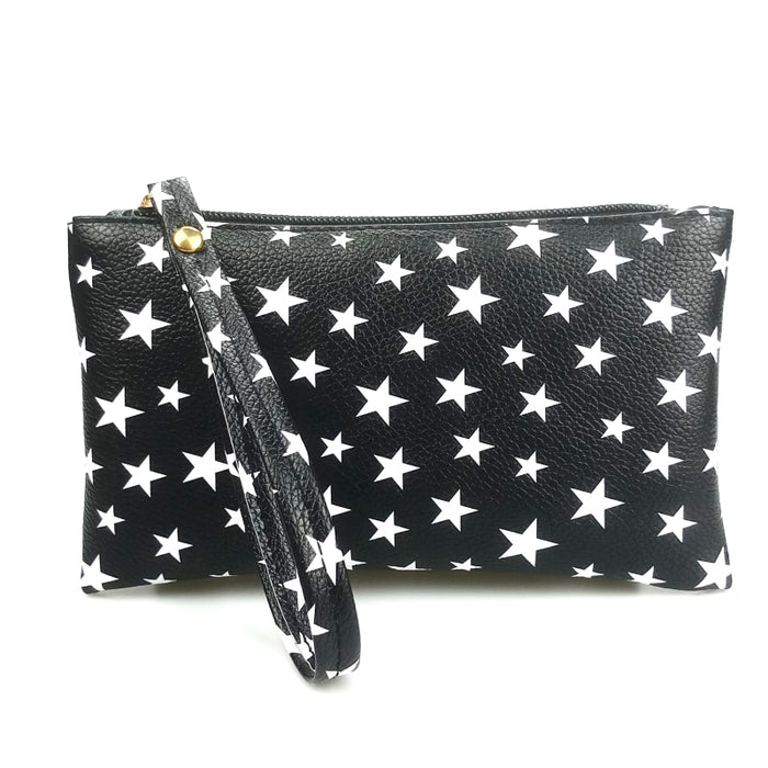 2018 New Fashion Black Small Long Coin Purse Organizer Wristlet Hand