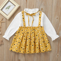 Melario Baby Girl Dress Autumn Baby Girl Princess Clothes Cute Girls Long Sleeve T-shirt Tops Cartoon Giraffe Dress 2pcs Suit