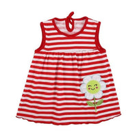 Newborn Baby Mimi Dress Girls O-neck Sleeveless Print Embroidered Cute Dress Girls Summer Beach Mini Dresses Baby Clothes
