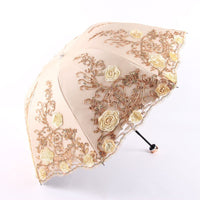 5 Colors Plum Flower Blossom Parasol lace three folding umbrella UV brand Sunny