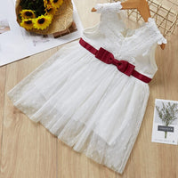 Baby Dress 2019 Summer Bow Design Belt Pearl Girl Dress Baby Sleeveless Cute Dress Newborn Baby Yellow Dress Kids Clothes