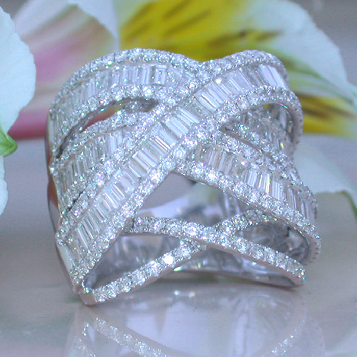 Rings Women Crystal Weave Silver Color Winding Ring Female