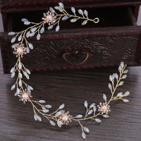 Bride Head Band Bridal Headband Headpiece Jewelry Noiva Wedding Crown Hair