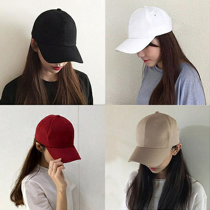 15 Color! Summer Autumn Fashion Soild Men Women Baseball Cap Adhesion Hat