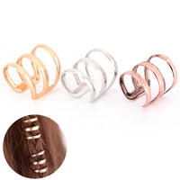 Adjustable Dreadlock Beads Tube Ring for Braids Hair Beads  Braid Cuff Clip Cute