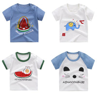 Luna Blanco cotton Baby T-shirt Long sleeved o-neck clothes Baby T-shirt Kids Clothes Cartoon T shirts for Girls Boy Tops & Tees