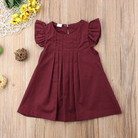 Baby Dress Vintage pastoral Style Baby Girls Pattern Flare Sleeve Dress Kids Toddler Pageant Sundress 0-2T Toddler Girl Clothes