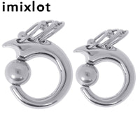 Men Women Piercing Silver Color Circles Ear Plug & Expander Stainless Steel