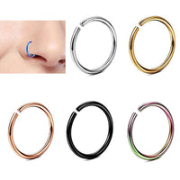 2 pcs/lot New Arrival 0.8mm Surgical Steel Small Nose Rings Gold Silver