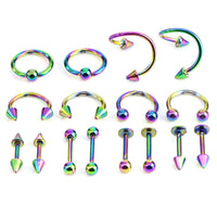 16PCS/Set Piercing Jewellery Surgical Steel Body Spiral Body Spiral Belly Tongue