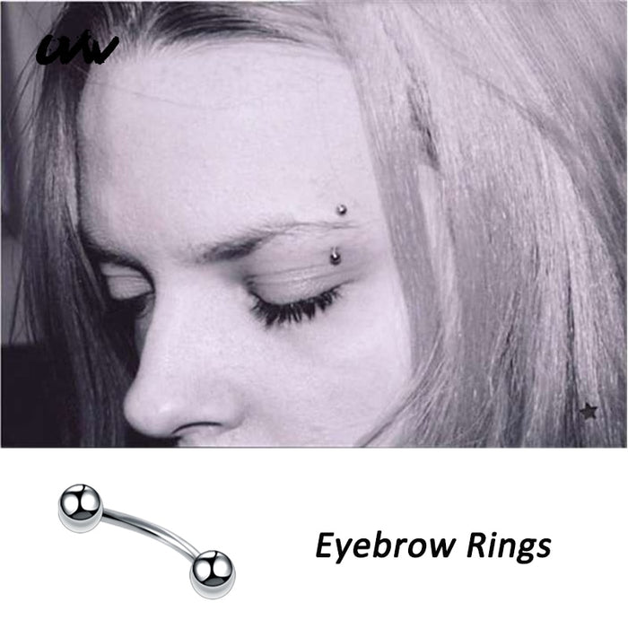 Steel Trendy Barbell Segment Tragus Eyebrow Rings Helix Labret Lip Piercing Body Jewelry