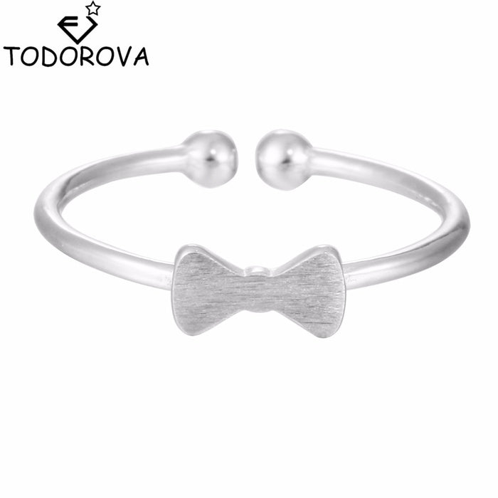 Todorova Simple Bowknot Open Adjustable Toe Ring for Women Foot Finger Rings Wholesale Female Charm Allmatch Jewelry