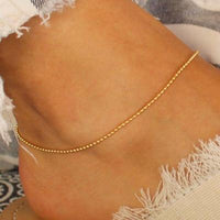 2019 New Colorful Crystal Bead  Anklet for Women Beach Sexy Gold Color Foot Chain on The Leg Fashion Ankle Strap Jewelry