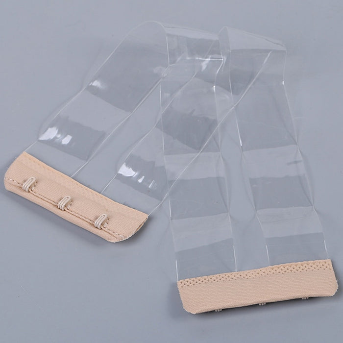 Women Silicone Non Slip Buckle Clear Bra Straps Invisible Transparent Bra Strap Backless Elastic Bra Extender Shoulder Strap