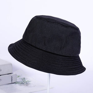Solid Panama Hat For Men Women Pure Color Simple Hip Hop Cap Black White Pink Yellow Purple Beige Sunscreen Bucket Hats YY169