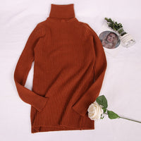 Hirsionsan Thick Warm Knitted Turtleneck Sweaters 2019 Autumn Winter Women Pullovers Casual Solid Jumper Slim Elastic Pull Femme