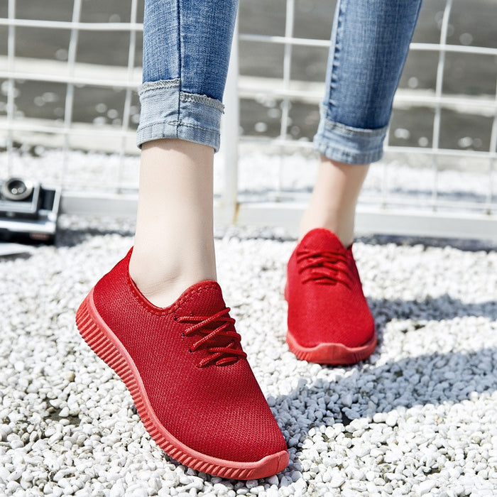 2019 Women Sneakers Fashion Socks Shoes Casual Red Sneakers Summer knitted Vulcanized Shoes Women Trainers Tenis Feminino