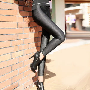 For Women High Elastic Material Black Fiteness Pencil Leggins Pants
