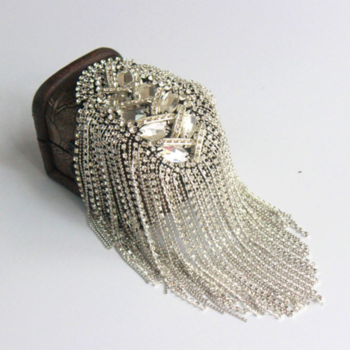 Epaulette/epaulet shoulder/charreteras/bling handmade kpop clothing accessories suit decoration brooches/broches/brosche