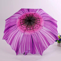 Purple Sunflower Large Sun Uumbrella UV Parasol Umbrella Rain Women Modest maiden ParapluieParaguas