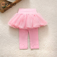 Kacakid baby girls Skirt-Pants kidsCake Skirt children Autumn Baby Girls Leggings Lace pants girls sweet Cotton Tutu Trousers