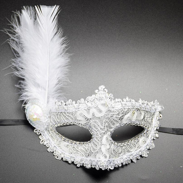 1pc Women Sexy Venetian Lace Feather Flower Eye Masks Halloween Masquerade Mask Girls Half Face Party Dance Mask