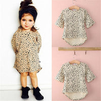 0-5T Cute Baby Girls Dress 3/4 Sleeved Baby Girl Dress Cotton Loose