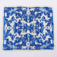 Women Jacquard Imitation Silk Comfortable Scarves Printed Female Big Square Handkerchief Bright With Smooth Edges Neckerchief