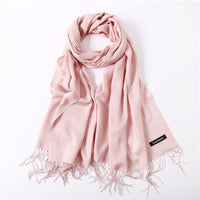 Women Scarf Soild Winter Cashmere Scarves Spring Summer Thin Pashmina Long Shawl Wraps Female Head Scarf Hijab Stoles Unisex