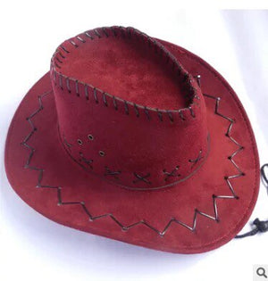Mens Women's Solid Western Cowboy Cowgirl Hats Retro Panama Sunhat Casual Crimping Cap Outdoor Holiday Cowboy Hats