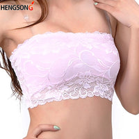 2019 Fashion Wrapped Tanks Ladies Girl Sexy Strapless Boob Women Lace Tube Top Slim Brassiere Bandeau Bra Tanks Summer