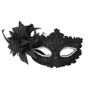 Women Venetian Sexy Black Lace Flower Half Face Eye Mask Party Dance Ball Masquerade Fancy Dress
