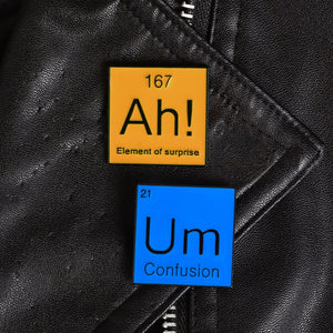 Periodic Table of Elements Ah Um Meme Lapel Pin Badge Enamel Pin Gift Ideas Creative Icon