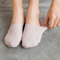 New Lady Casual Breathable Ankle Boat Socks Girls Fashion Invisible Non-slip Cotton Socks Women Low Cut Candy Color Socks 5 Pair