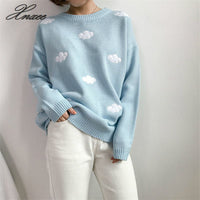 2019 Women Sweaters And Pullovers Long sleeve Knitted Women's Sweater Female Winter V Neck Jumpere