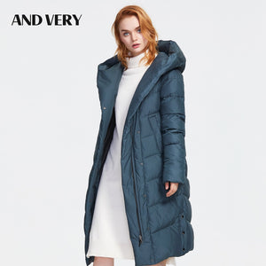 new collection down jacket women high quality hooded medium length top thick cotton warm coat