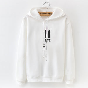 Hoodies Women 2019 Autumn Female Long Sleeve Solid Color BTS Hooded