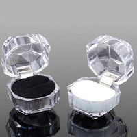 20pcs/lot Jewelry Package Ring Earring Box Acrylic Transparent Wedding Packaging Jewelry Box