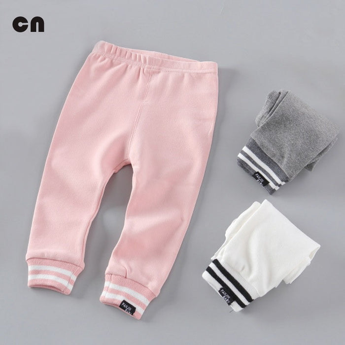 Special price 0-2T baby pants Baby boy and girl leggings Cotton Spring autumn Newborn pants Threaded trousers feet Casual pants