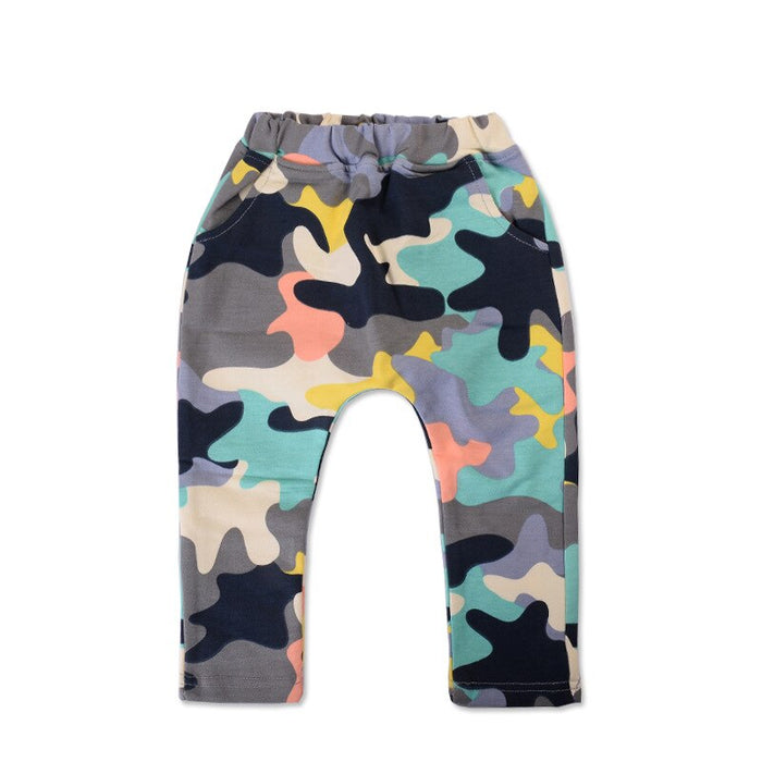 2016 new Spring high quality cotton Army soldiers camouflage style 1 piece baby pants 0-3 year baby boy girls harem pants