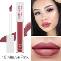 SACE LADY Matte Lipstick Makeup 23 Color Long Lasting Liquid Lip Stick Nude