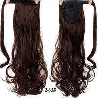 "AOSI 24"" Long Curly Clip In Hair Wrap Around False Ponytail Hairpiece Hairpins Synthetic Heat Resistant Pony Tail Hair Extension"
