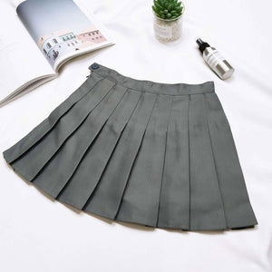 Women Skirt Wild Solid Pleated Mini Lively Casual Beautiful White Simple Female Leisure Summer Short Skirts