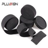 Black Flat Elastic Band Sewing Accessories DIY For Wigs And Cloth Highest Thicken 1.5-4cm Width Wig Elastic Band 500cm/pack